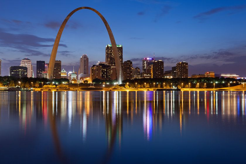 St. Louis Skyline, Missouri, USA