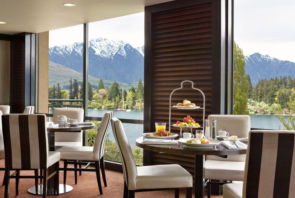 St Moritz Queenstown Lombardi Bar window view, New Zealand