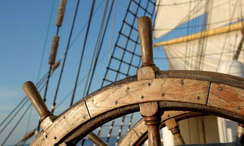 Steering Wheel on Ship