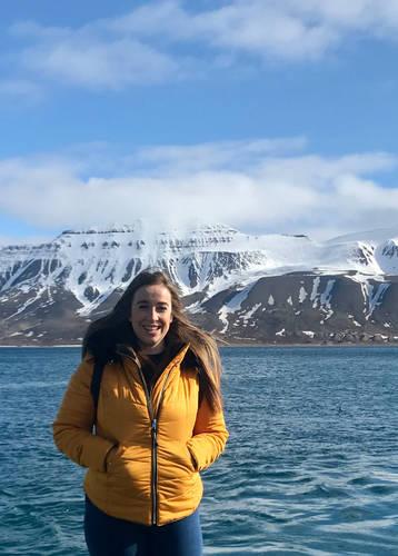 Steff Sargeant in Svalbard