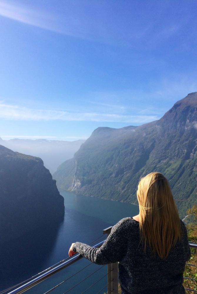 Steff Sargeant at the Norwegian fjords with The Luxury Holiday Company