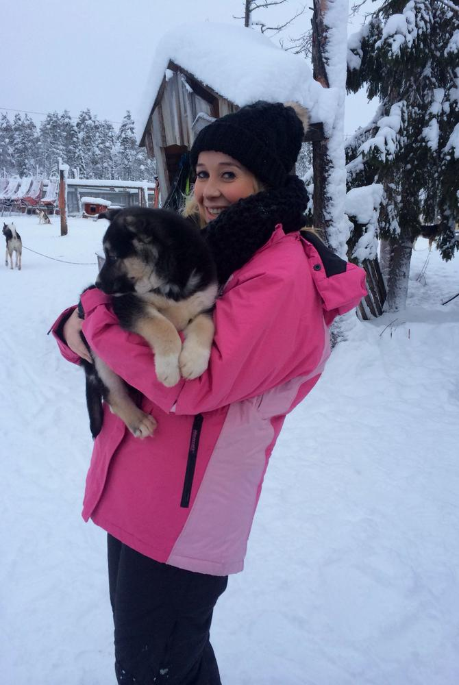 Steff Sargeant in Finnish Lapland with The Luxury Holiday Company