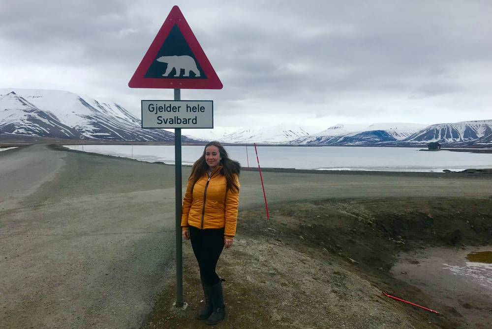 Steff Sargeant in Svalbard Norway with The Luxury Holiday Company