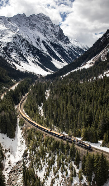 The Rocky Mountaineer from above