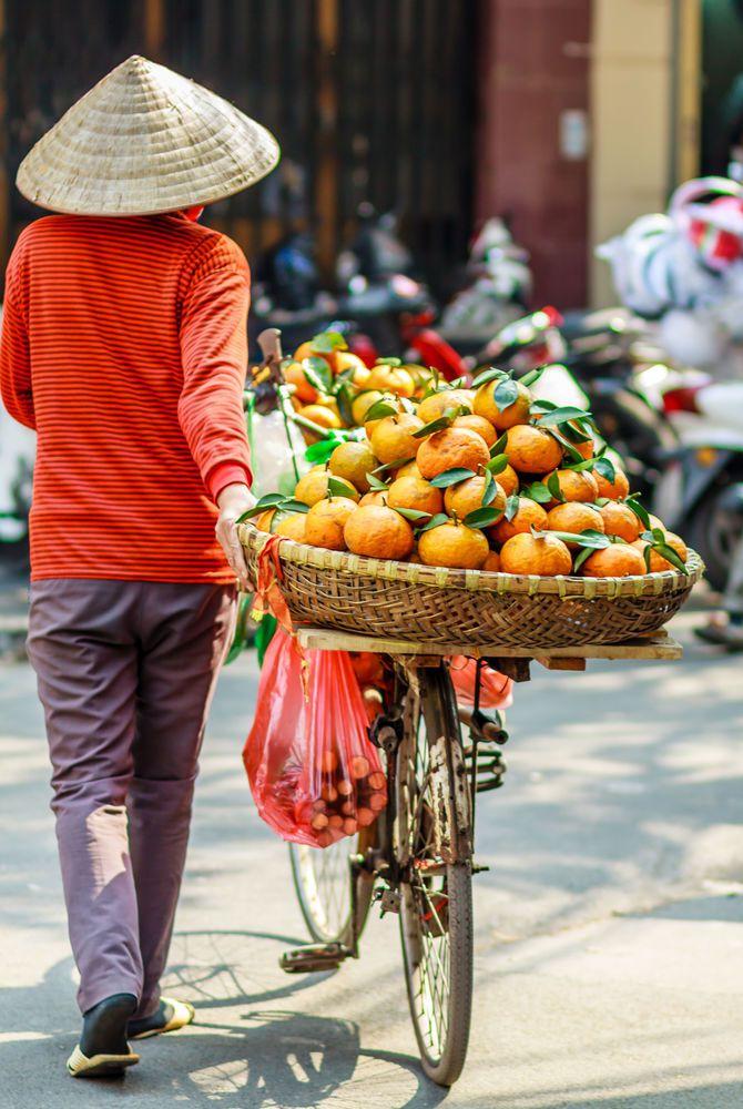 Street Market Seller in Ho Chi Minh City, Vietnam