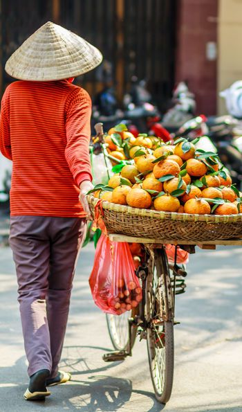 Fruit seller in Ho Chi Minh City, Vietnam