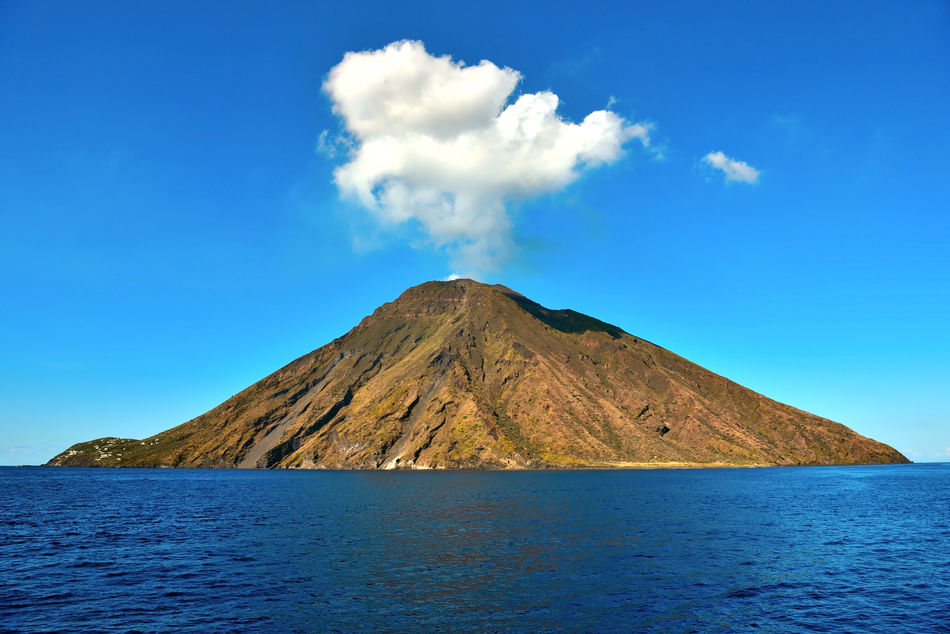 View of Stromboli in Italy's Aeolian Islands
