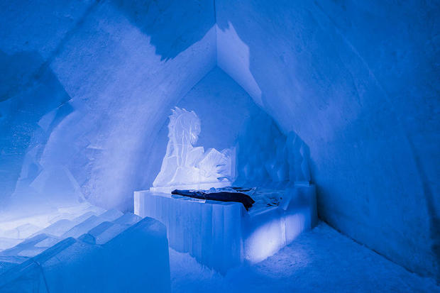 Ice room at Finland's Arctic SnowHotel