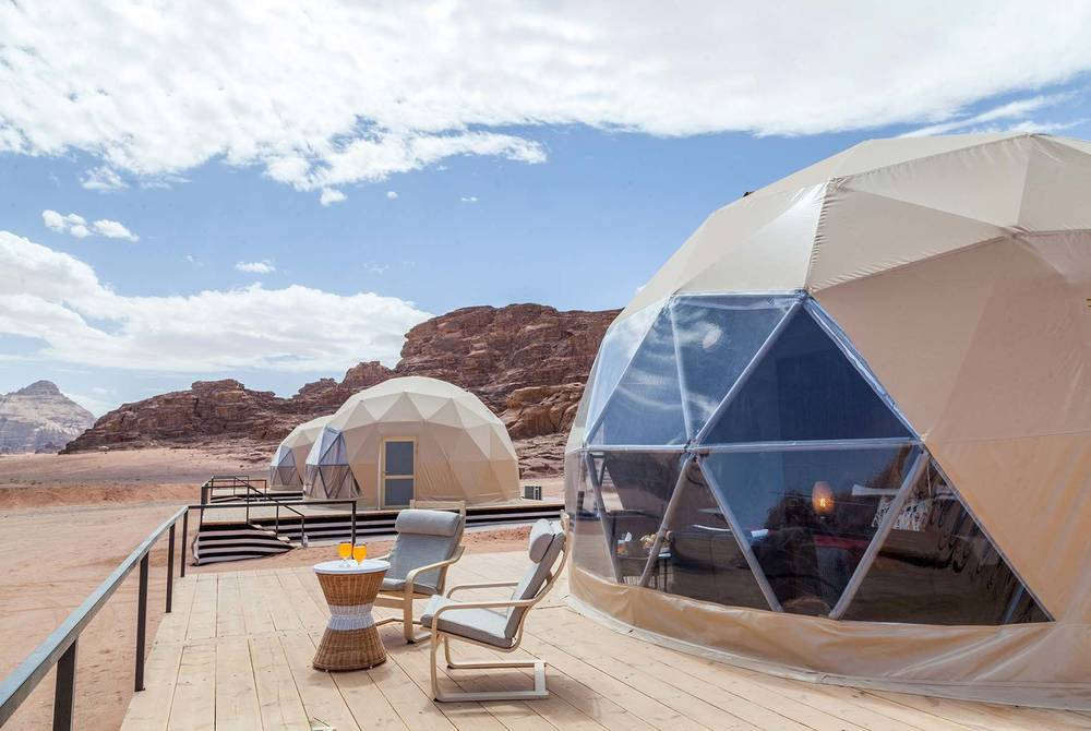Martian Domes at Sun City Camp, Wadi Rum