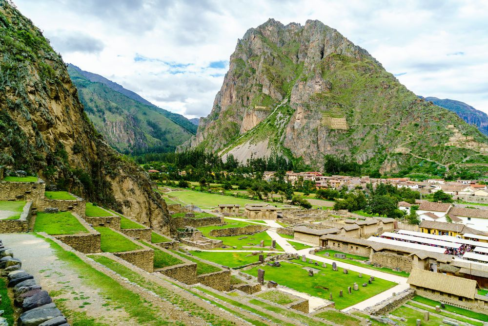 Sun Temple on the mountain at Ollantaytambo, Peru