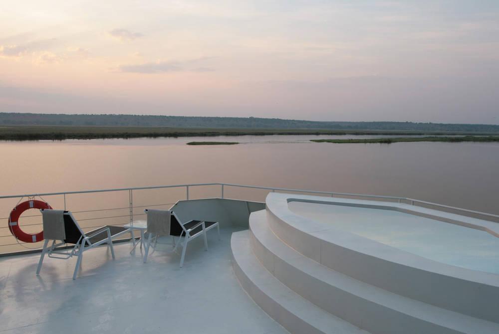 Sundeck and pool,  Zambezi Queen