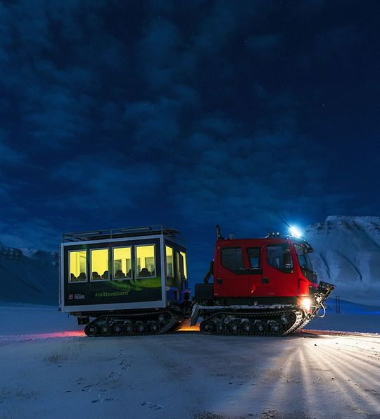Snowcat adventures in Svalbard