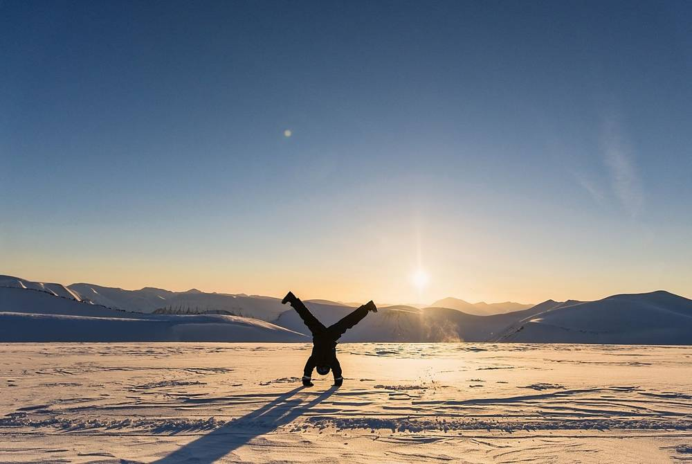 Svalbard in winter