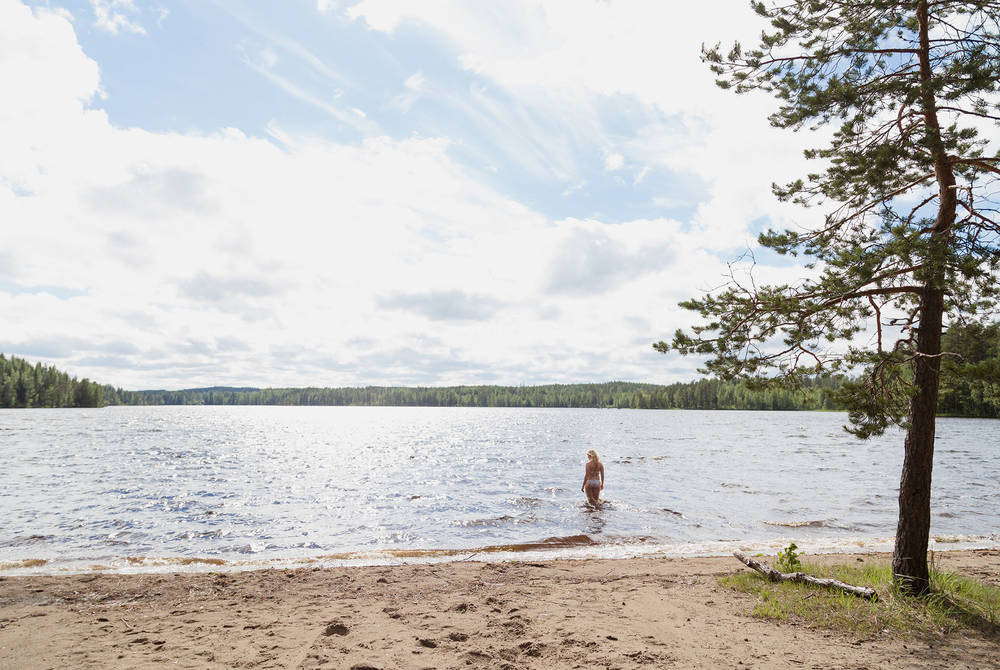 Swimming, Padasjoki, Finnish Lakeland