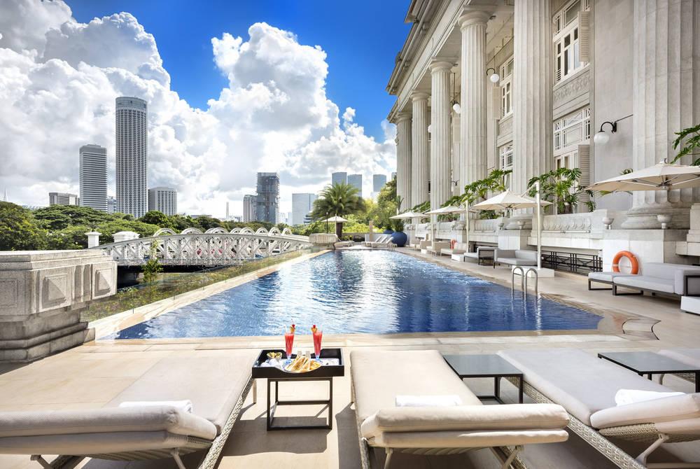 Infinity pool, Fullerton Hotel, Singapore