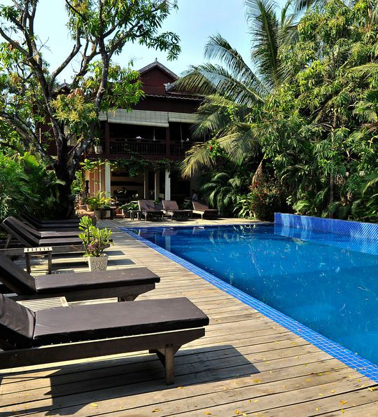 Swimming pool, Sambor Village Hotel, Kampong Thom