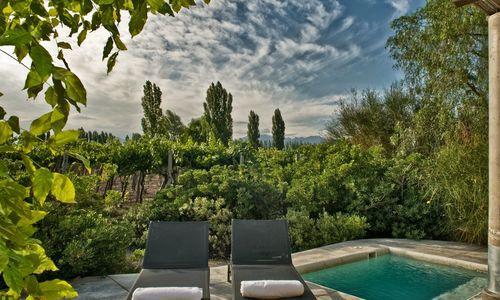 Swimming pool and patio, Cavas Wine Lodge, Mendoza