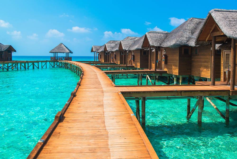 Water bungalows, Tahiti
