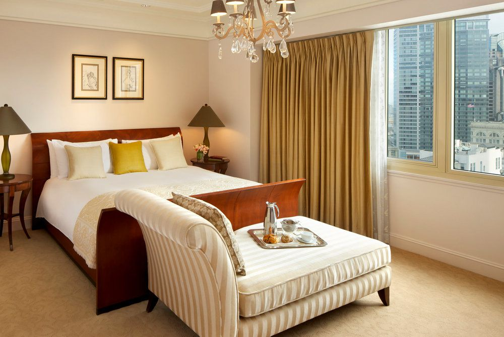 Taj Campton Place, luxury suite bedroom