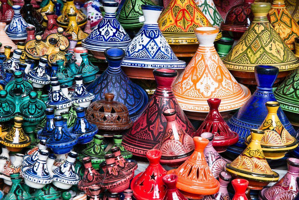 Tajines in a Souk, Marrakech, Morocco