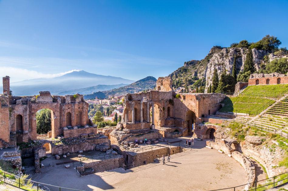 Taormina's ancient ruins, Sicily