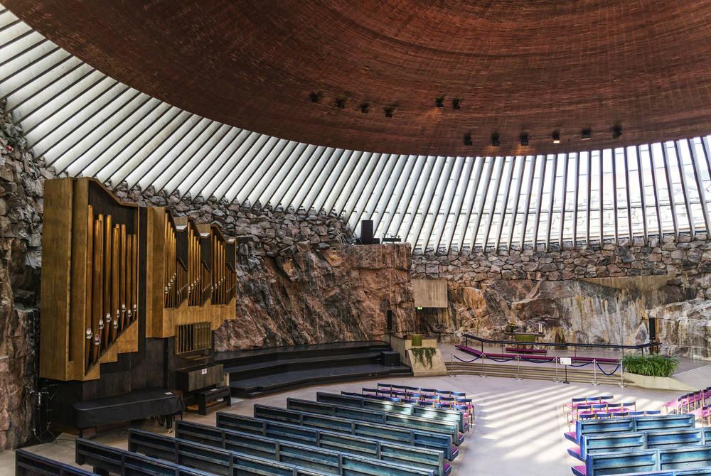 "Temppeliaukio ""church in the rock, Helsinki"
