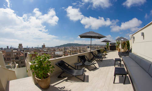 Terrace, Avenida Palace, Barcelona