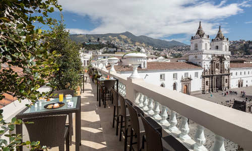 Terrace, Casa Gangotena, Quito, Ecuador