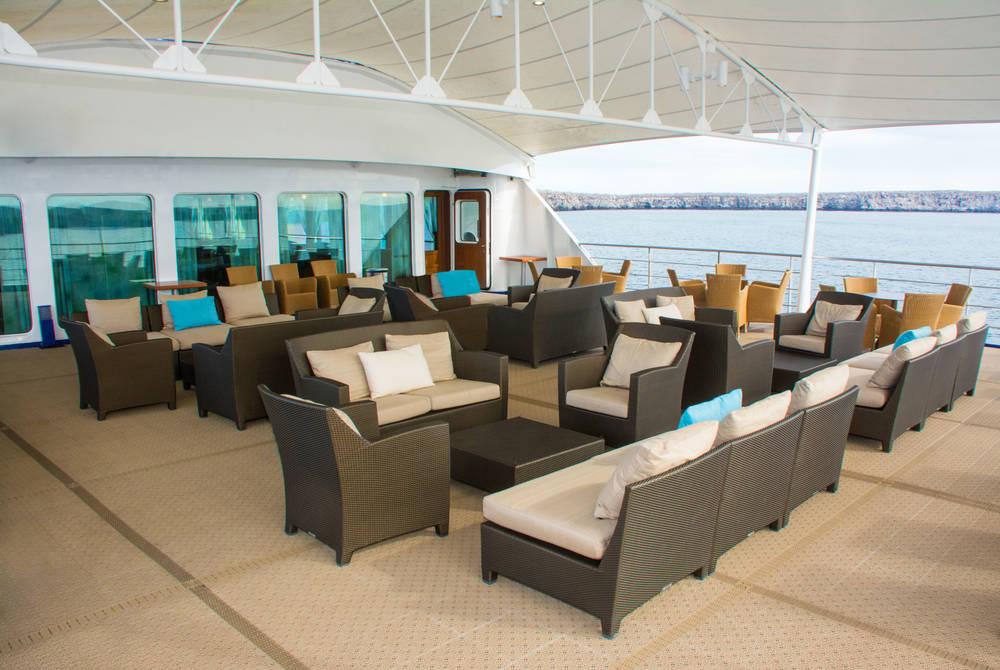 Terrace, Santa Cruz II Yacht, Galapagos