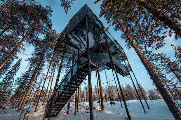 The 7th Room at the Treehotel – one of the best hotels in Lapland
