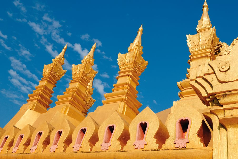 The Buddhist Stupa, That Luang, Vientiane, Laos
