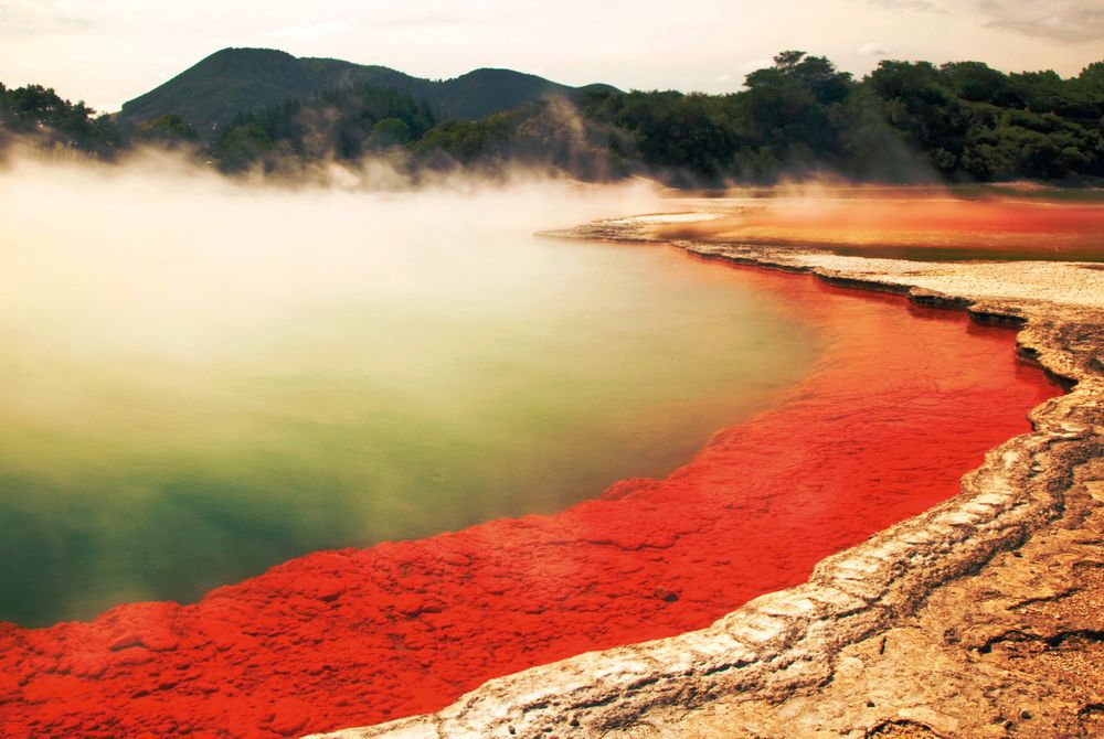 The Champagne Pool, Waiotapu, North Island, New Zealand,
