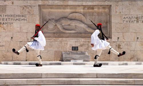 The Changing of the Guard ceremony, Athens, Greece