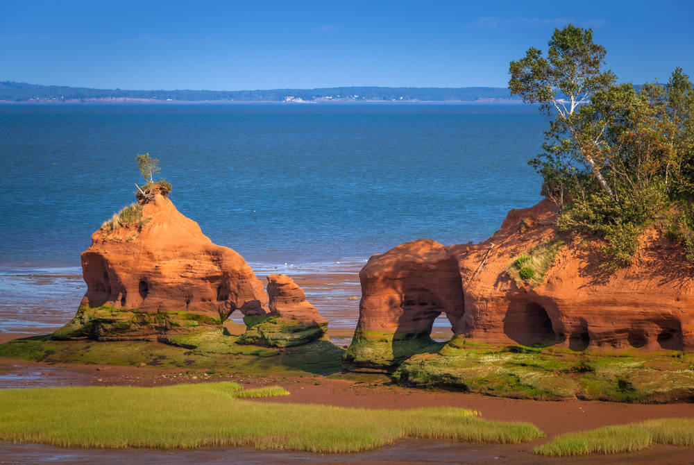The Hopewell Rocks at the Bay of Fundy