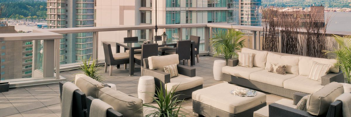 Rooftop terrace at The Loden