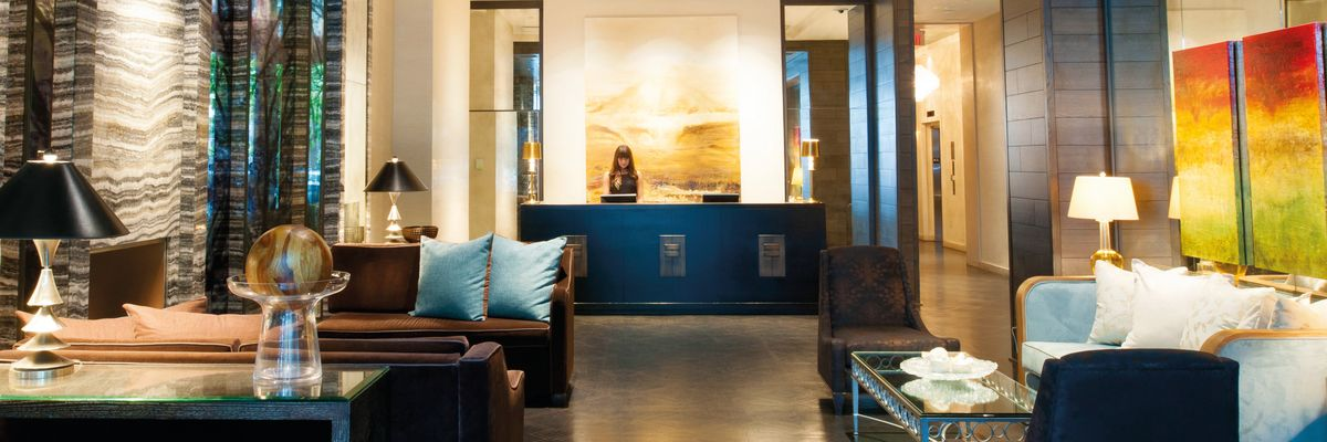 The lobby at The Loden