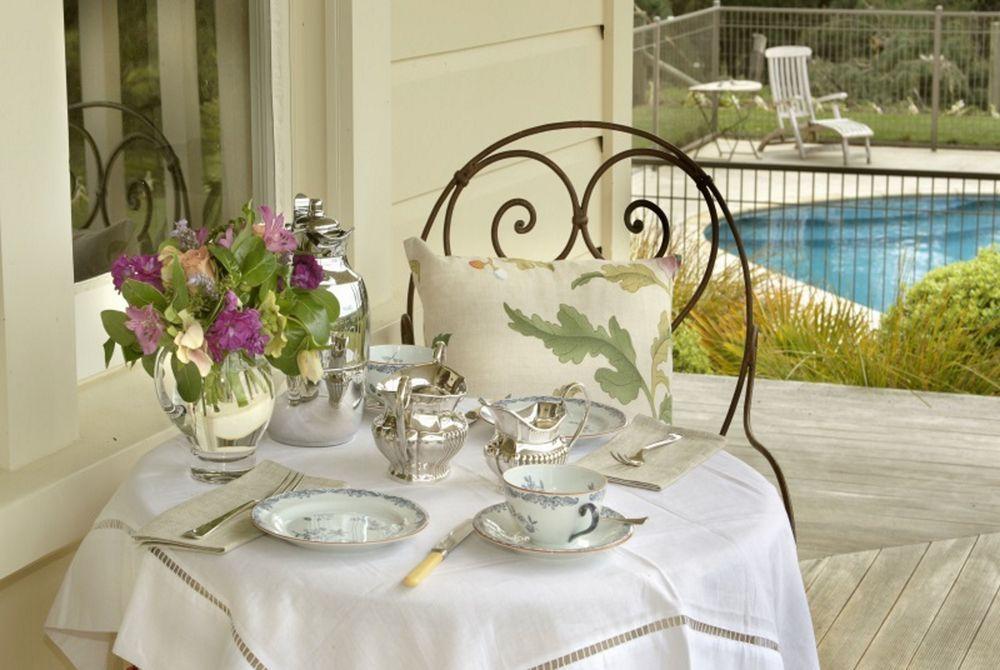 The Manse veranda with swimming pool, New Zealand