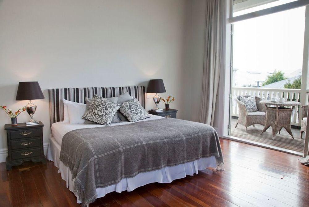 The Martinborough Hotel bedroom with balcony, New Zealand