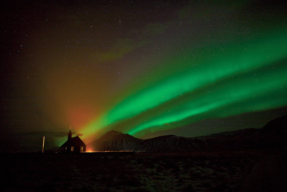 The Northern Lights from Hotel Budir
