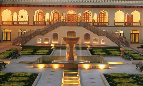 The Palace Courtyard (Chandani Chowk), Taj Rambagh Palace, Jaipur