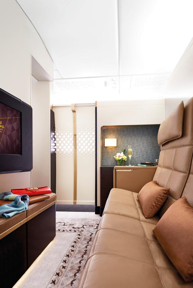 Etihad Airways The Residence Lounge private living area