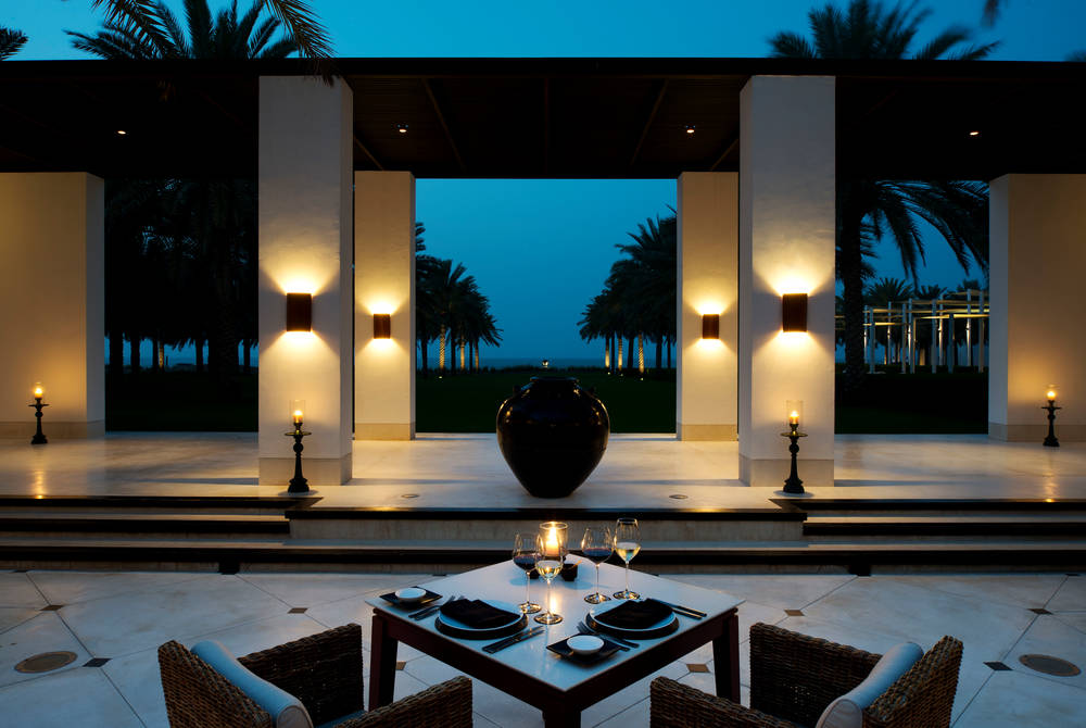 Restaurant courtyard, The Chedi Muscat