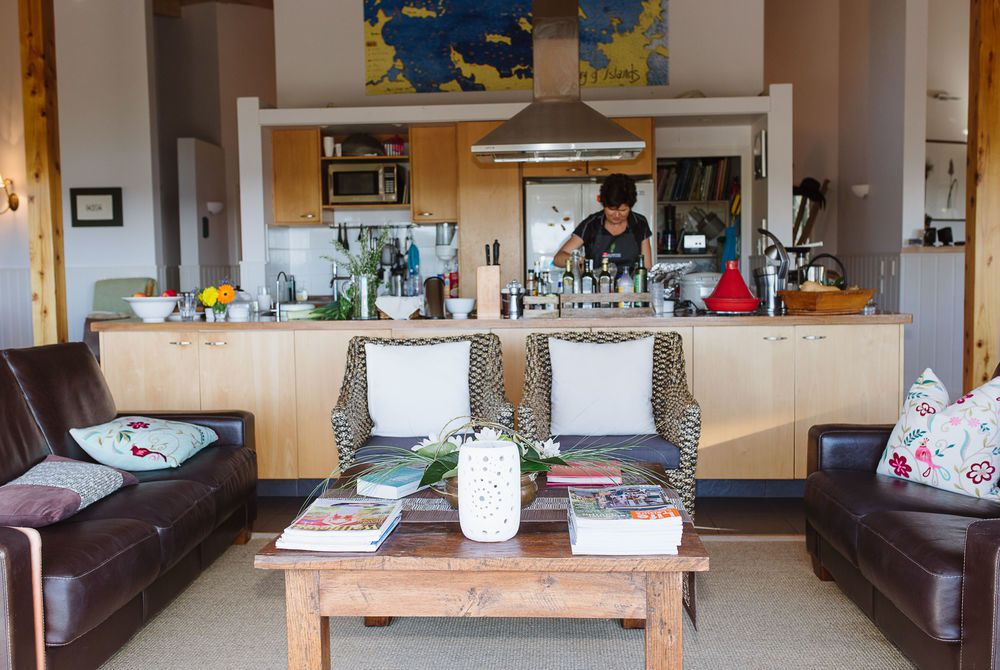 The Sanctuary kitchen and lounge, New Zealand
