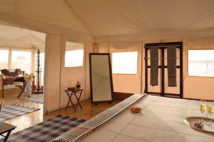 Tent interior, The Serai