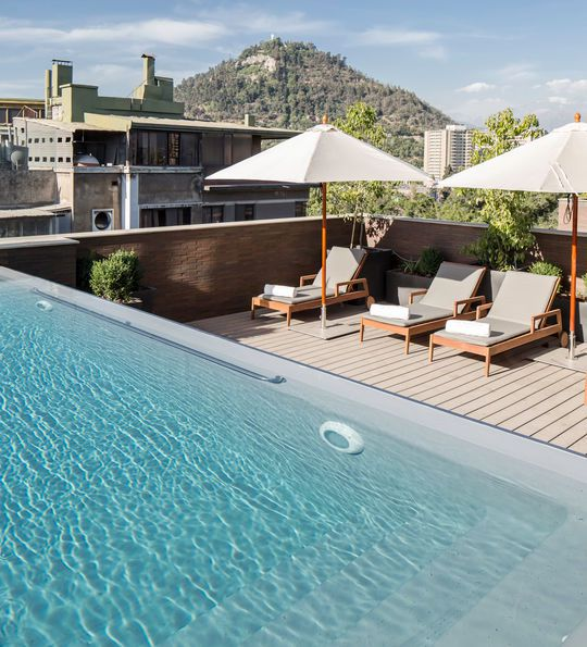 Rooftop pool at The Singular in Santiago