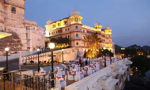 The Sunset Terrace, Fateh Prakash Palace, Udaipur, Rajasthan, India