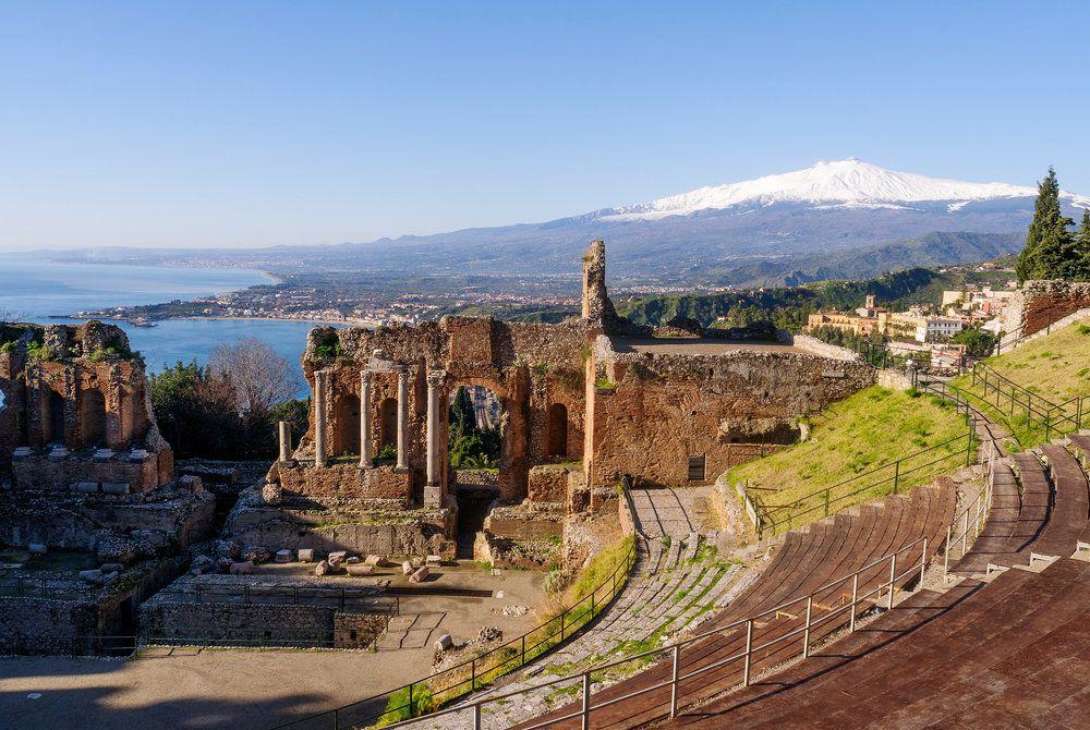The Teatro Greco, Taormina, Italy