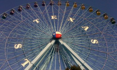 The Texas State Fair ferris wheel
