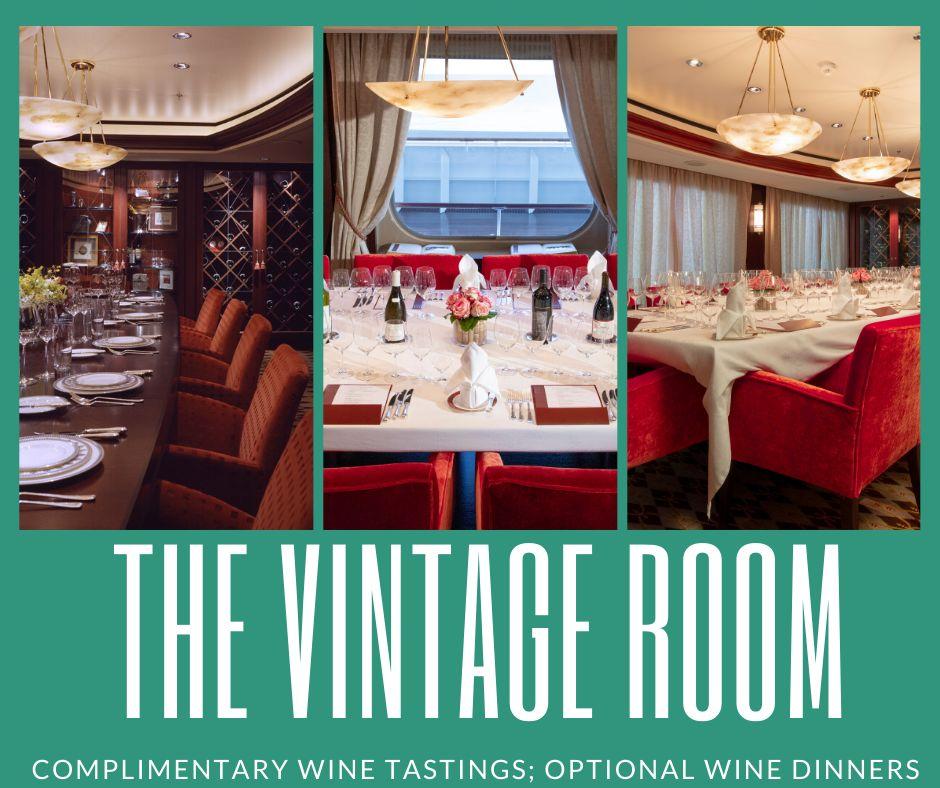 The Vintage Room Restaurant on Crystal Cruises