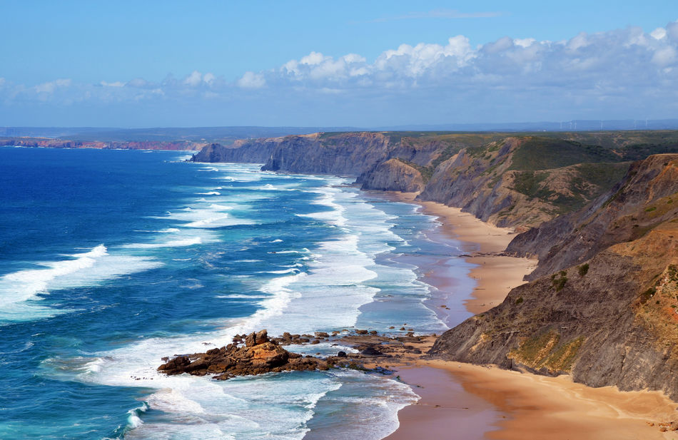 The west coast of the Algarve in Portugal